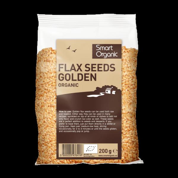 Seminte de in aurii bio 200g Smart Organic