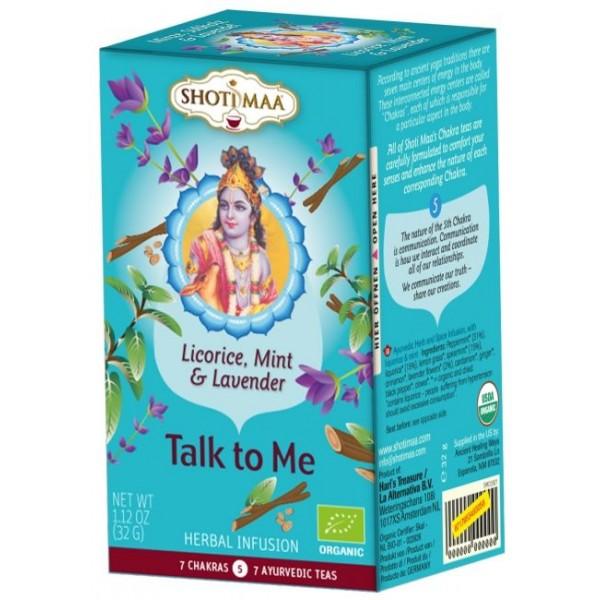 Ceai Shotimaa Chakras - Talk to Me - lemn dulce, menta si lavanda bio 16dz