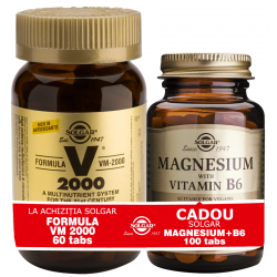 Solgar Pachet Formula VM 2000 60tab + Magnesium cu B6 100 tablete GRATIS