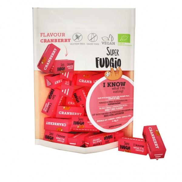 Caramele bio - aroma merisoare 150g Super Fudgio