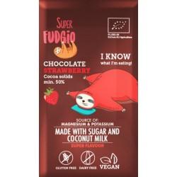 Super Fudgio Ciocolata cu capsuni bio 80g