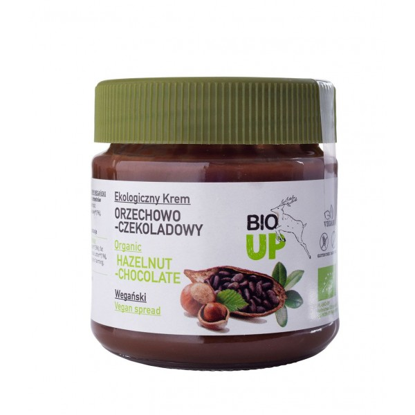 Crema tartinabila de ciocolata cu alune de padure bio 190g Super Fudgio