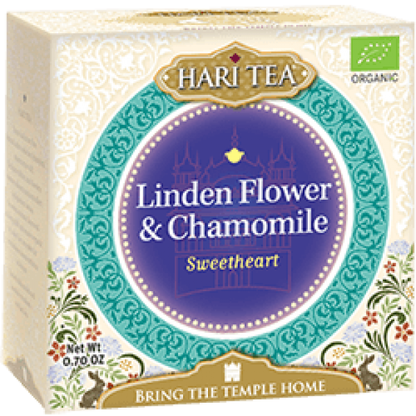 Ceai premium Hari Tea - Sweetheart - tei si musetel bio 10dz