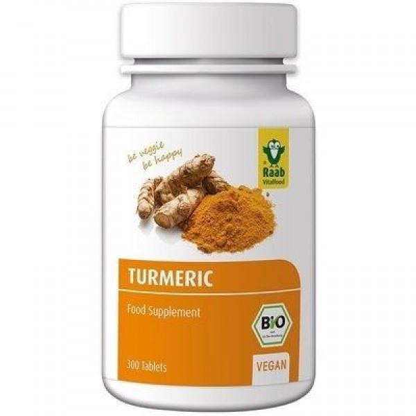 Turmeric (curcuma) bio 300mg, 300 tablete vegane