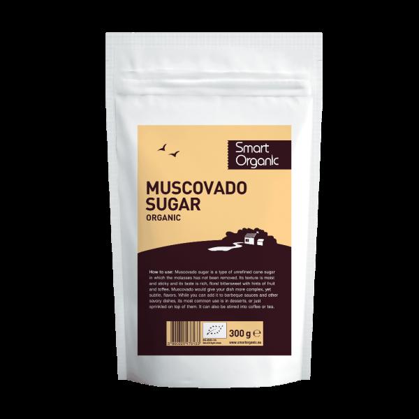 Zahar brun Muscovado bio 300g Smart Organic